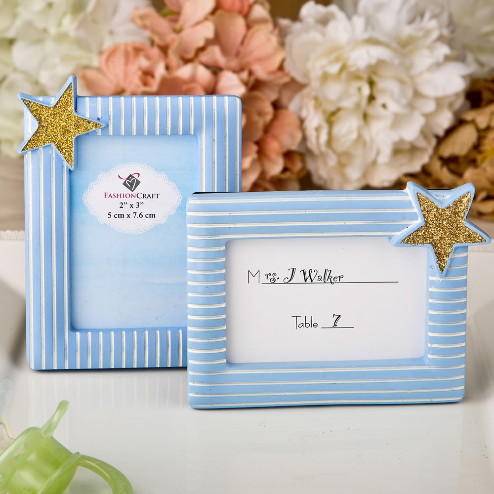 Blue And Gold Photo Frame Placecard Frame From Fashioncraft