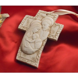 RL3100 Holy Family Hanging Cross Made in Italy