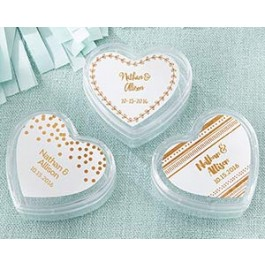 18069NA-CFG Heart Favor Container - Copper Foil (Set of 12)