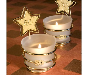 4740 Gold Star Design 50th Anniversary Celebration Favors