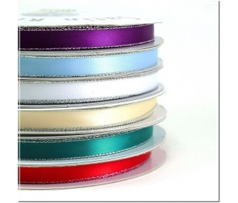 PR300 Personalized satin ribbon Silver Edge