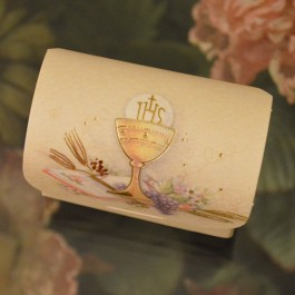 295 Italian First Holy Communion Bauletto Favor Box