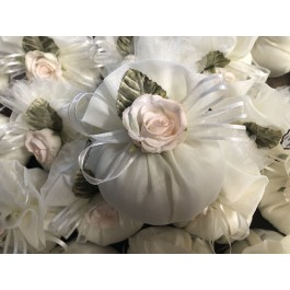 AF606 Elegant Italian wedding favor bomboniere with craft flower