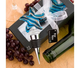 6103 <em>Murano Glass Collection</em> Starfish Design Wine Bottle Stoppers
