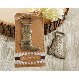"11186NA ""Just Hitched"" Cowboy Boot Bottle Opener"