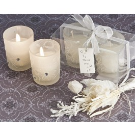 A81007 Sparkling Floral Votive Candle Set in Display Box