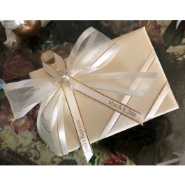 GF25 Gift Wrapping with Rhinestone Cross and Personalized ribbon