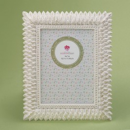 12882 Brushed leaf ivory 5 x 7 frame from gifts by fashioncraft