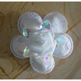CF1500 Confetti Flower with REAL Aurora Borealis Crystal, Almond Favors, Wedding Favors Bomboniere