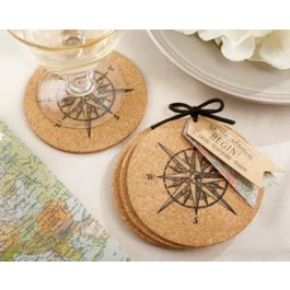 "22042NA ""Let the Journey Begin"" Cork Coasters"