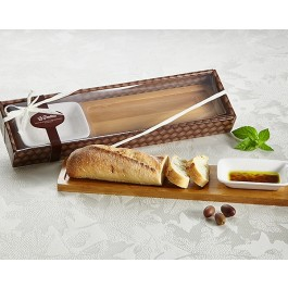 "A93042 ""La Panetteria"" Bread Board with Dipping Dish"