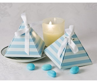 "A21002 ""Something Blue"" Pyramid Favor Box (24 Pack)"