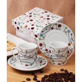 "RB1214 ""Polka Dot Swirls"" Espresso Set"