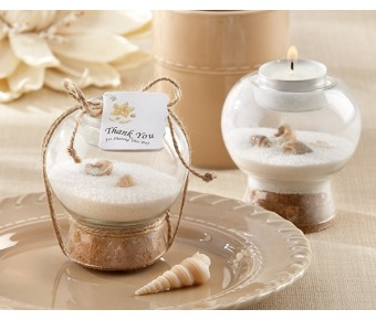 27003NA Sand and Shell Tealight Holder