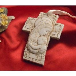 RL3000 Mother and Child Hanging Cross Made in Italy