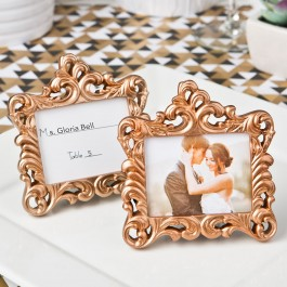 8385 Rose Gold  Baroque style frame favor