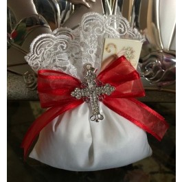 Italian Confirmation Favor Bag with rhinestone cross