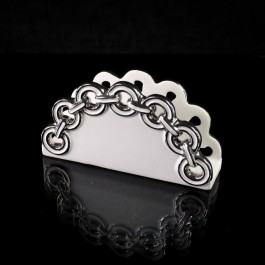 Napkin Holder with silver rings by myitalianfavors.com