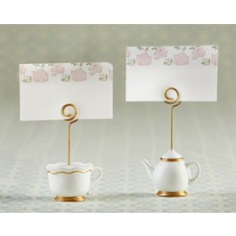 25337NA Tea Time Whimsy Place Card Holder (Set of 6)