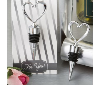 3503 All Metal Heart Wine Bottle Stopper from fashioncraft