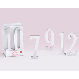 22076MD Silver Mirror Table Numbers (7-12)